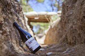 Tasting organic wines Frisach in the civil war trenches