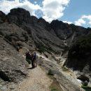 Observing fauna in els Estrets canyon, Els Ports