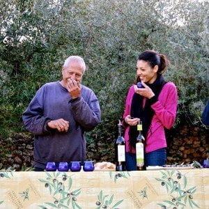 Organic olive oil tasting