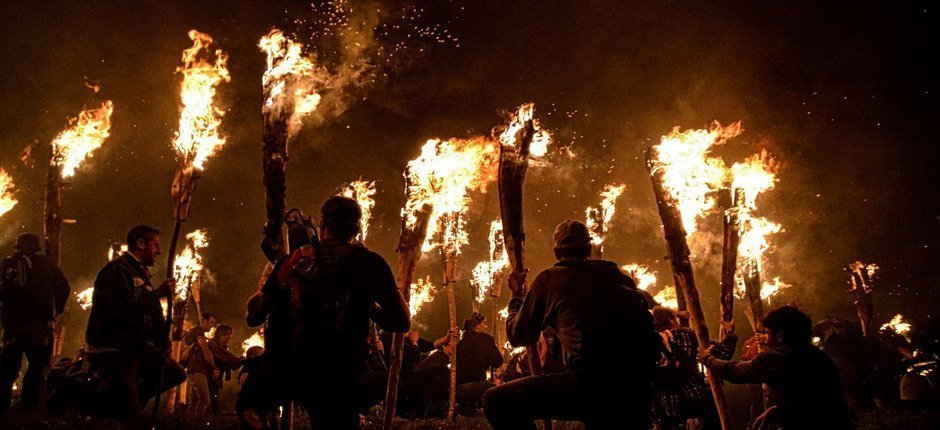 Fire festivity in the Pyrenees, summer solstice